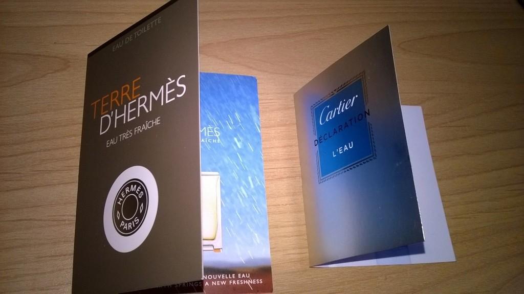 Porovnani vuni Declaration L'Eau a Terre D'Hermes Eau Tres Fraiche